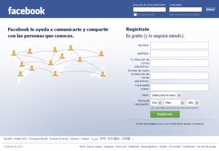 Facebook en español - Imagen de Inicio de Sesión