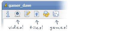 Comparte videos, archivos e inicia juegos con Meebo en Español