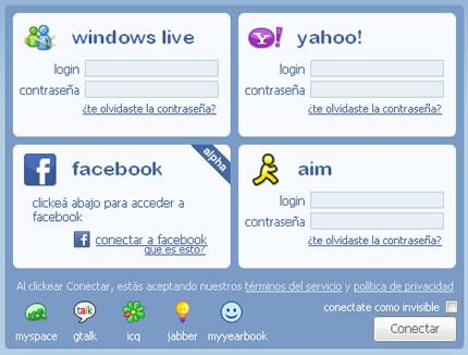 Iniciar sesión en varias redes individuales en Meebo en Español
