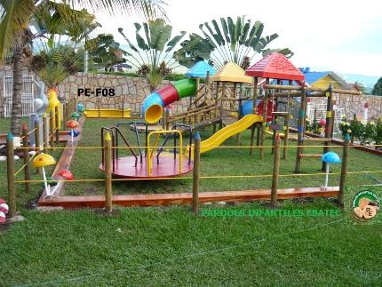 Parque infantil de madera instalado en chinauta - Parque infantil de madera ...