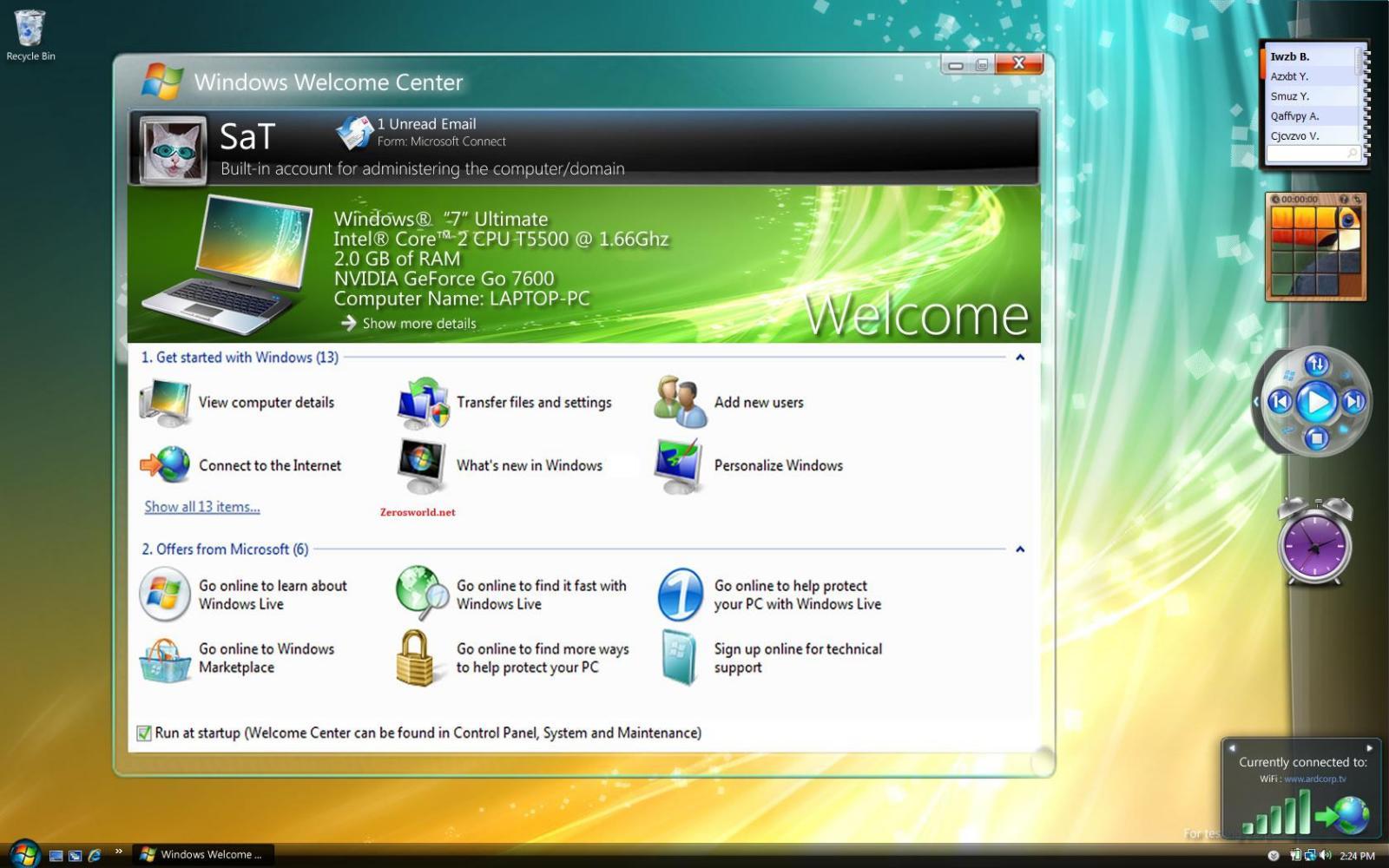 windows 7 centro de bienvenida - CLIC PARA AMPLIAR